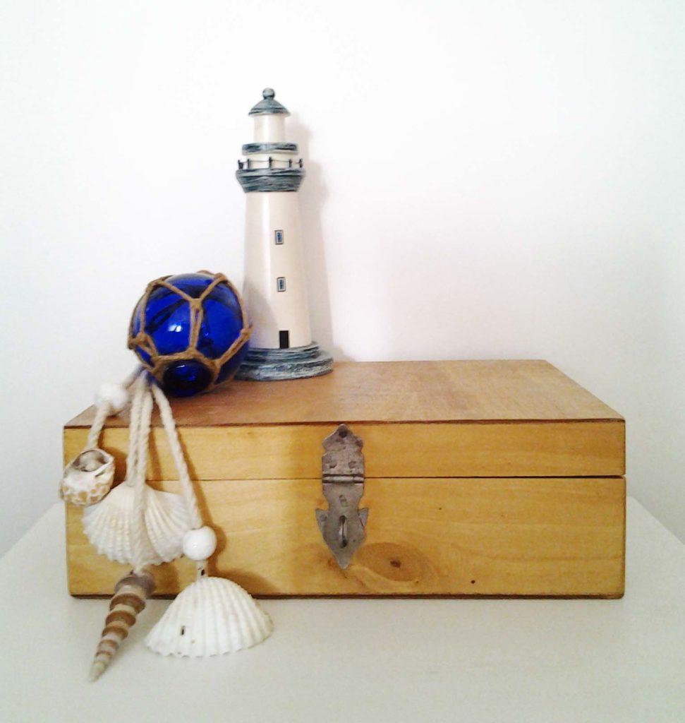 décorer une boite en bois