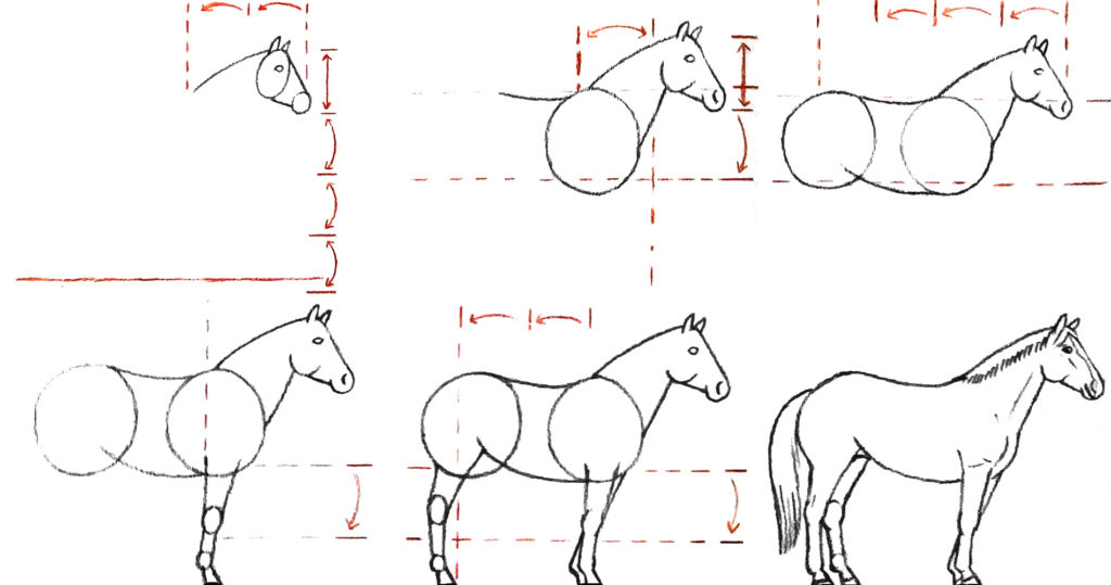 dessiner un cheval