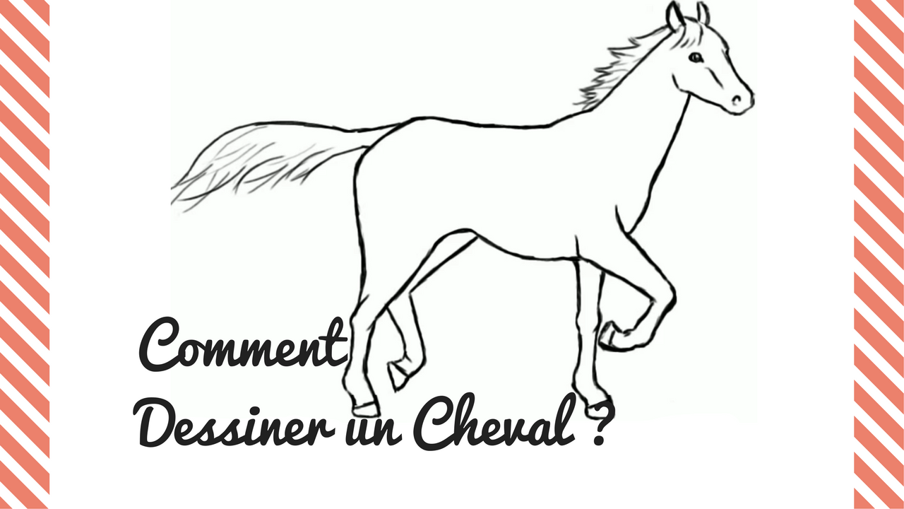 Comment dessiner un cheval crayons et pinceaux - Dessin facile de cheval ...