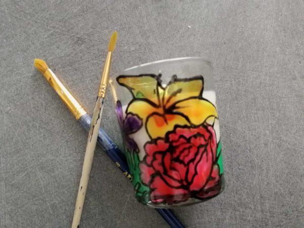 dessiner sur du verre