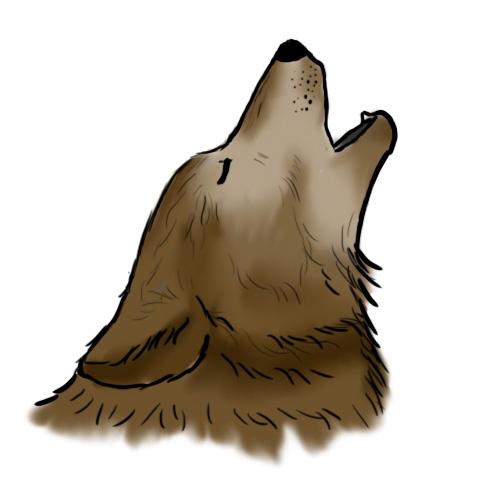 dessiner loup hurlant