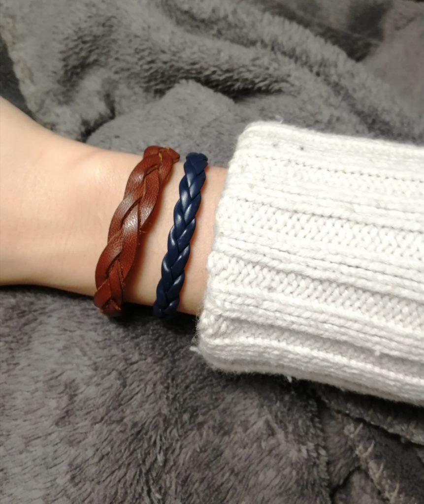 faire bracelet en cuir tressé