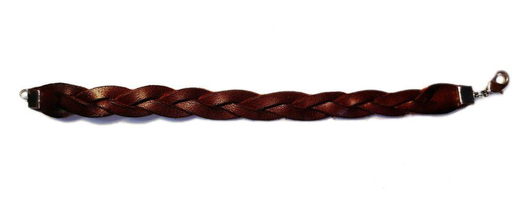 bracelet en cuire tressé