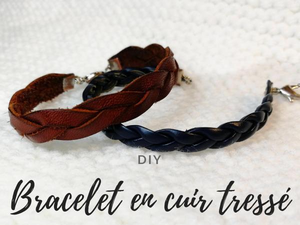 DIY bracelet en cuir tressé