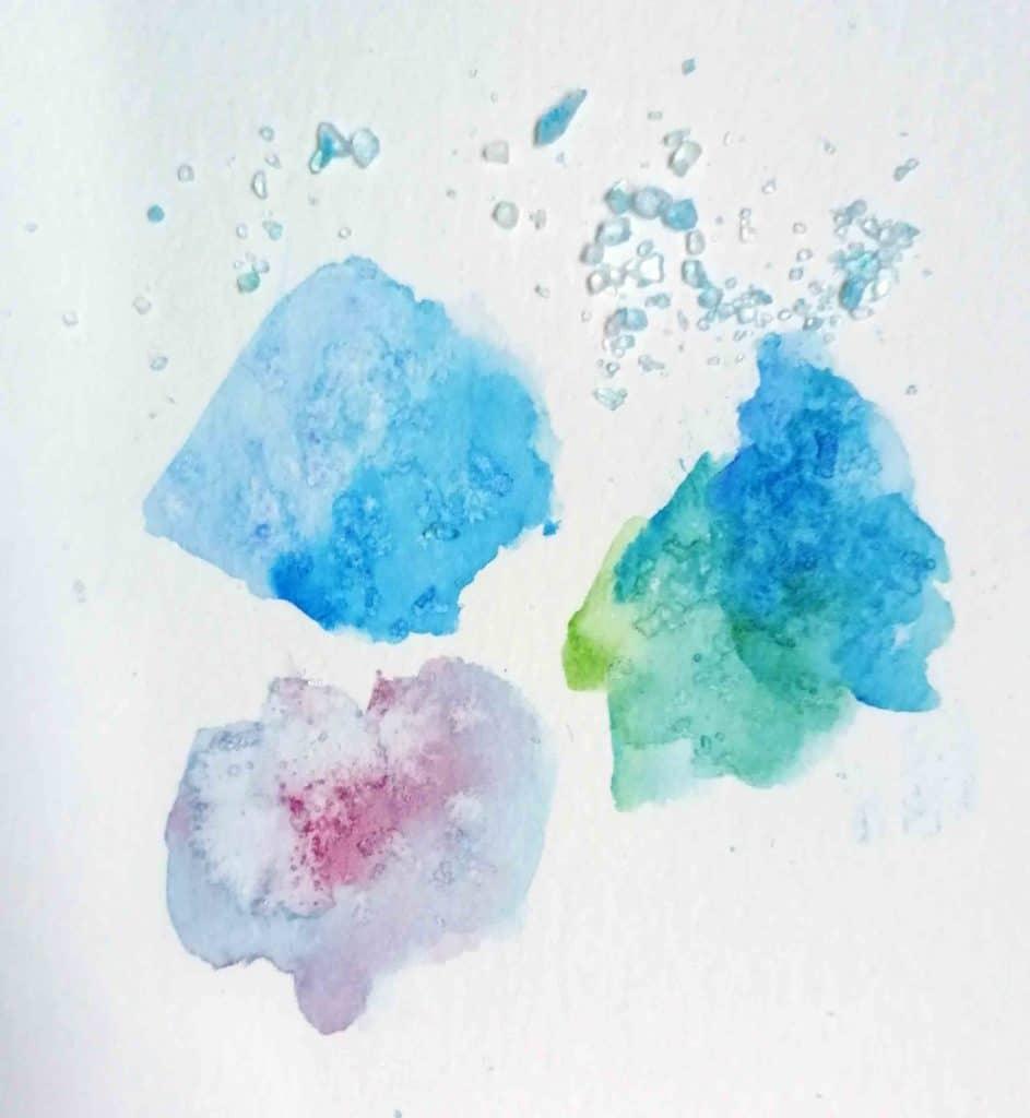 effet aquarelle gros sel