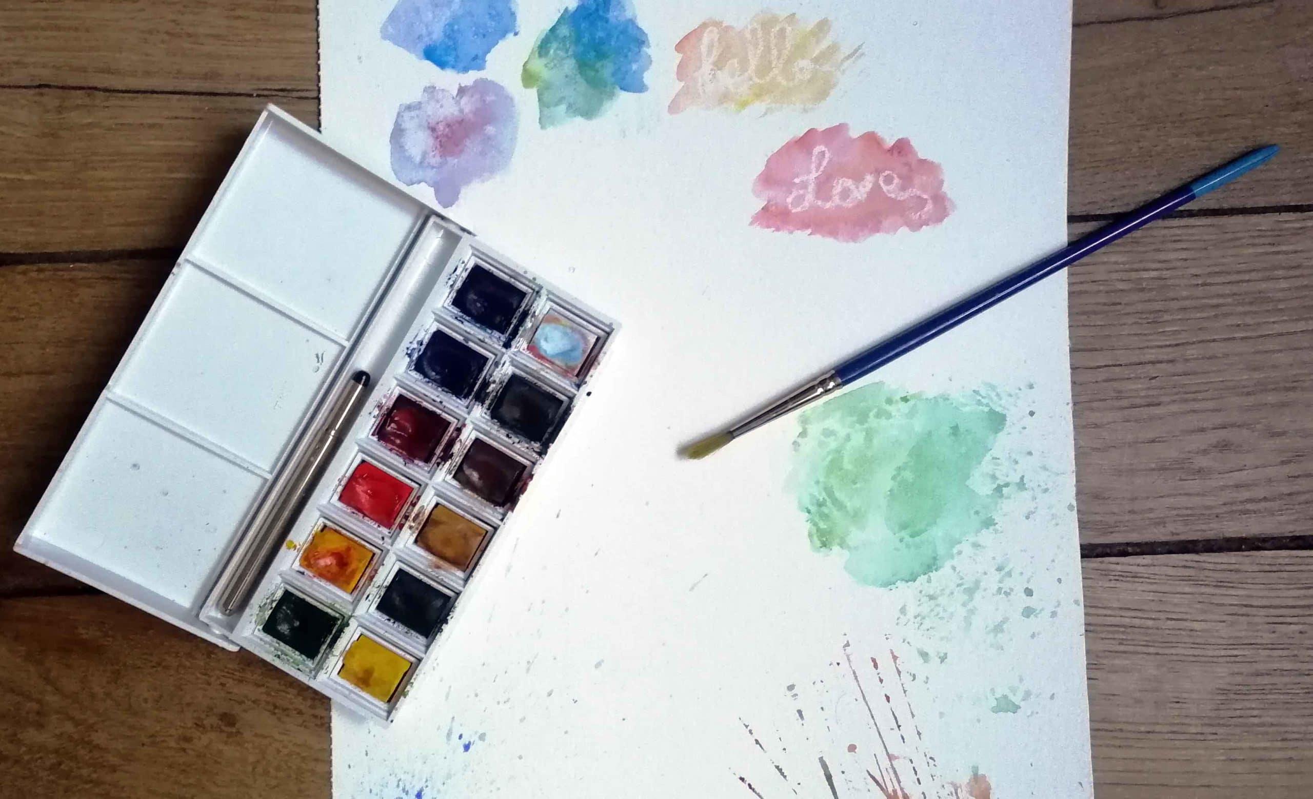 tester effet aquarelle