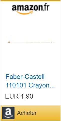 crayons blanc