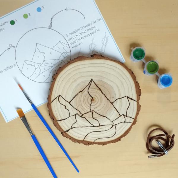 Kit de peinture par numéro sur bois