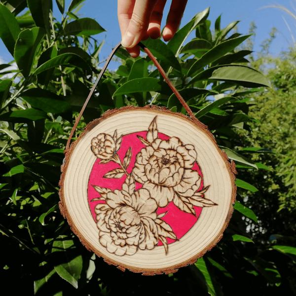 pyrogravure fleur